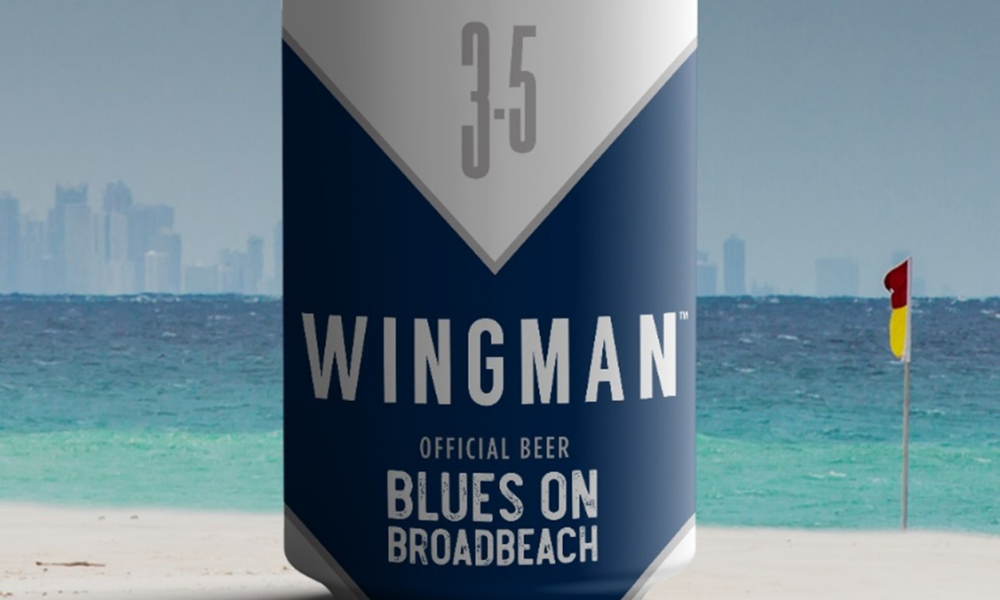 Wingman Beer Official Beer for Blues on Broadbeach